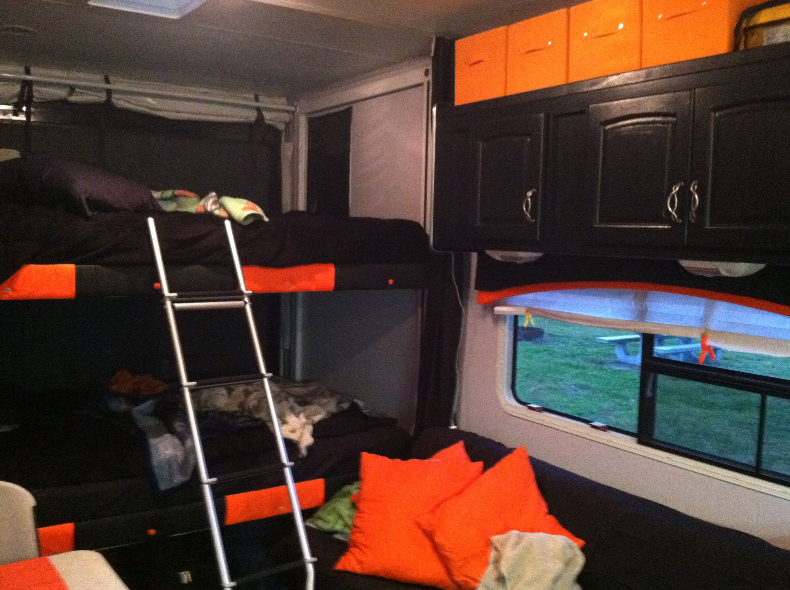 Bunks And Over The Couch Camper Pinterest Toy Hauler