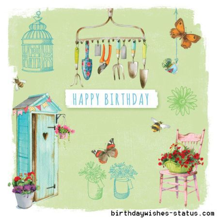 Birthday Wishes For Gardeners Birthday Cards For Gardeners Kaarten