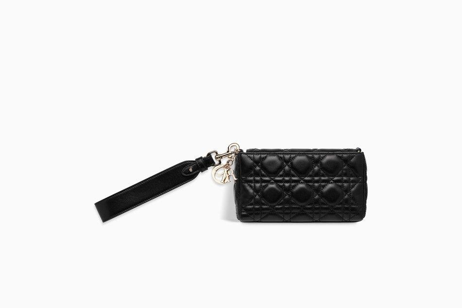 00602ea8e2 LADY DIOR BABY CLUTCH IN BLACK CANNAGE LAMBSKIN - Lady Dior Dior ...