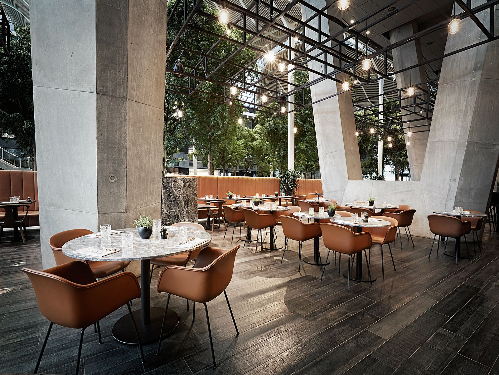 Interior design of restaurant bark at crowne plaza hotel - Interior design for hotels and restaurants ...