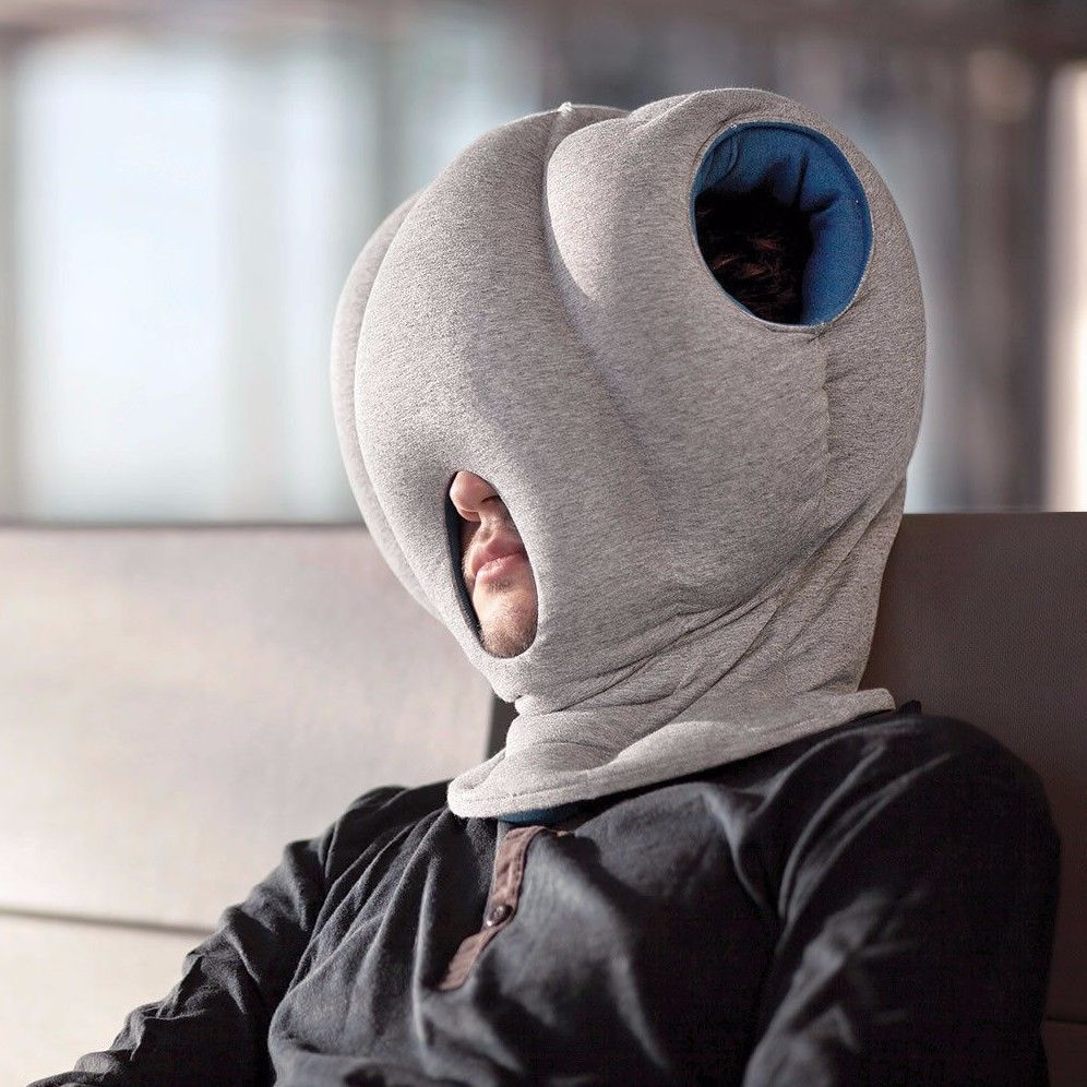 Ostrich Travel Pillow Head Chiropractic Neck Rest Power Nap Cushion Blue Or Red Nap Pillow Head Pillow Magic Pillow