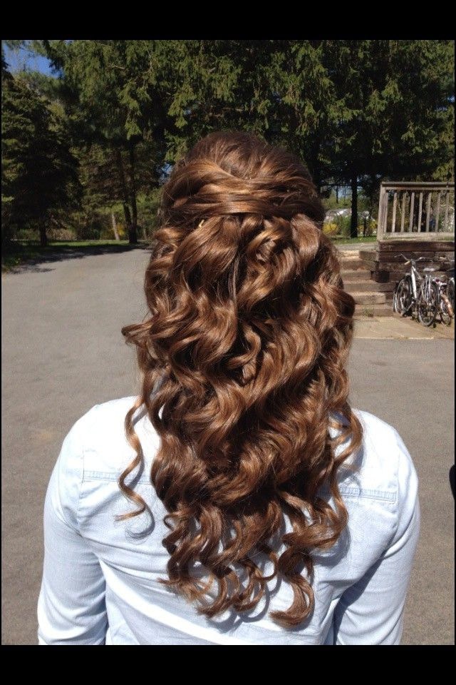 prom hairstyles for long hair half up half down black
