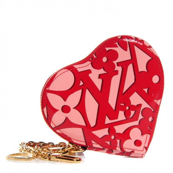 255c46526 LOUIS VUITTON Vernis Sweet Monogram Coeur Heart Coin Purse Pomme D'Amour