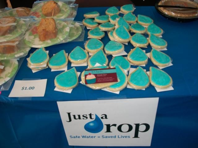 Drop shaped cookies for sale in the LexisNexis Dayton office.