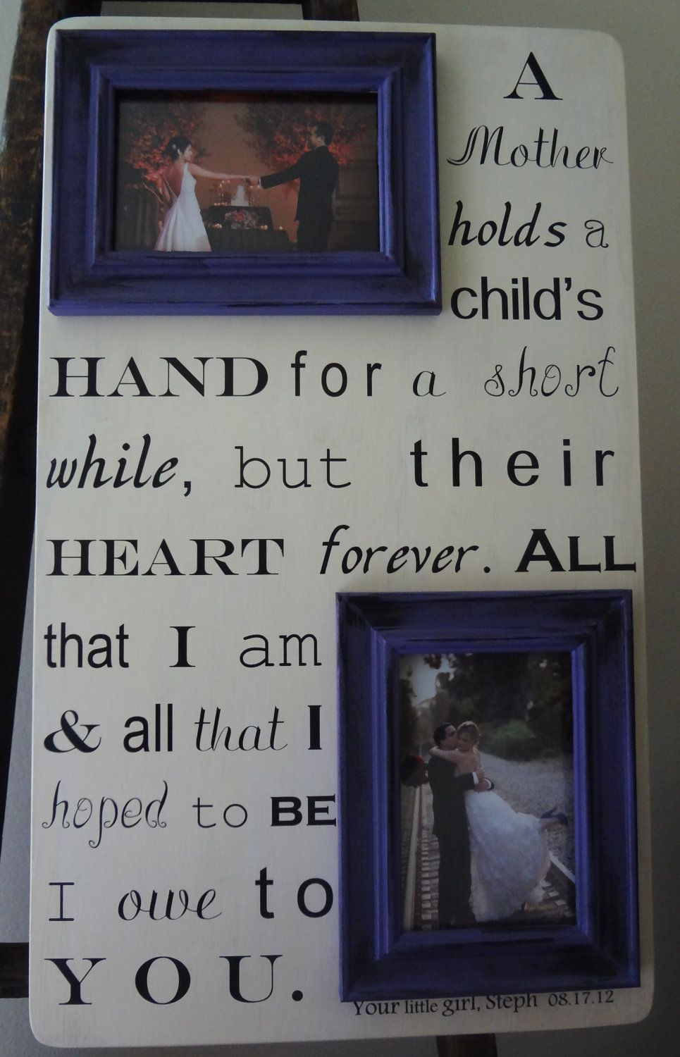 Mother of the bride saying x custom with your own quote letter