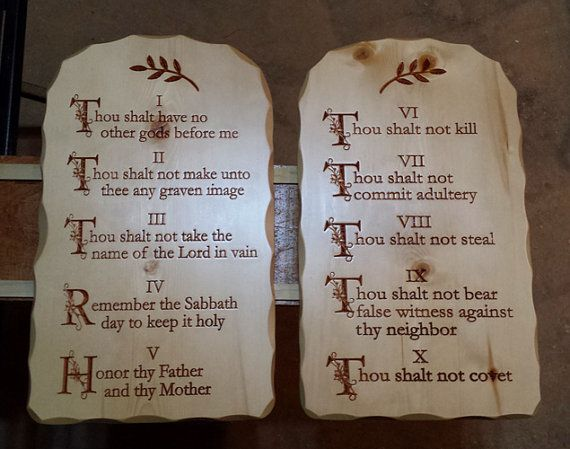 image about Printable Ten Commandments Tablets called 10 Commandments Supplements- Carved Robust Pine Sculpted gain