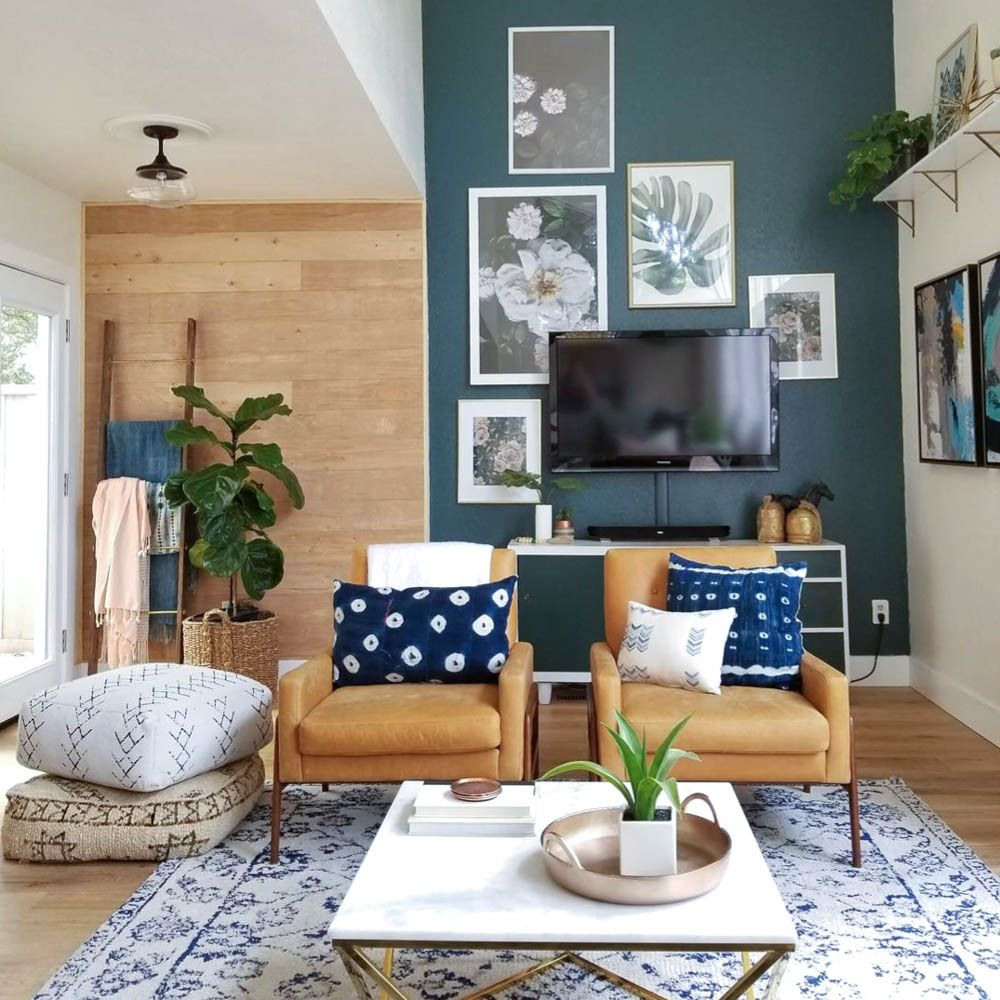 Living room with accent wall | @andwhatelse | H ...