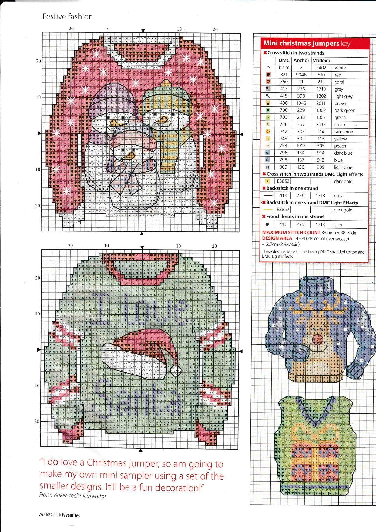 Foute Kersttrui C En A.Shemi Puloveri Shemi Cross Stitch Needles Cross Stitch Just