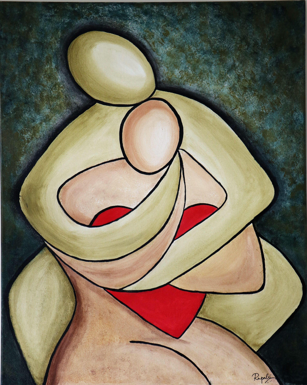 A Couple With A Heart Contemporary Art Figurative Art Acrylic Wall Art Home Decor Handmade Rupali Swain By R Art Heart Painting Beautiful Art Paintings