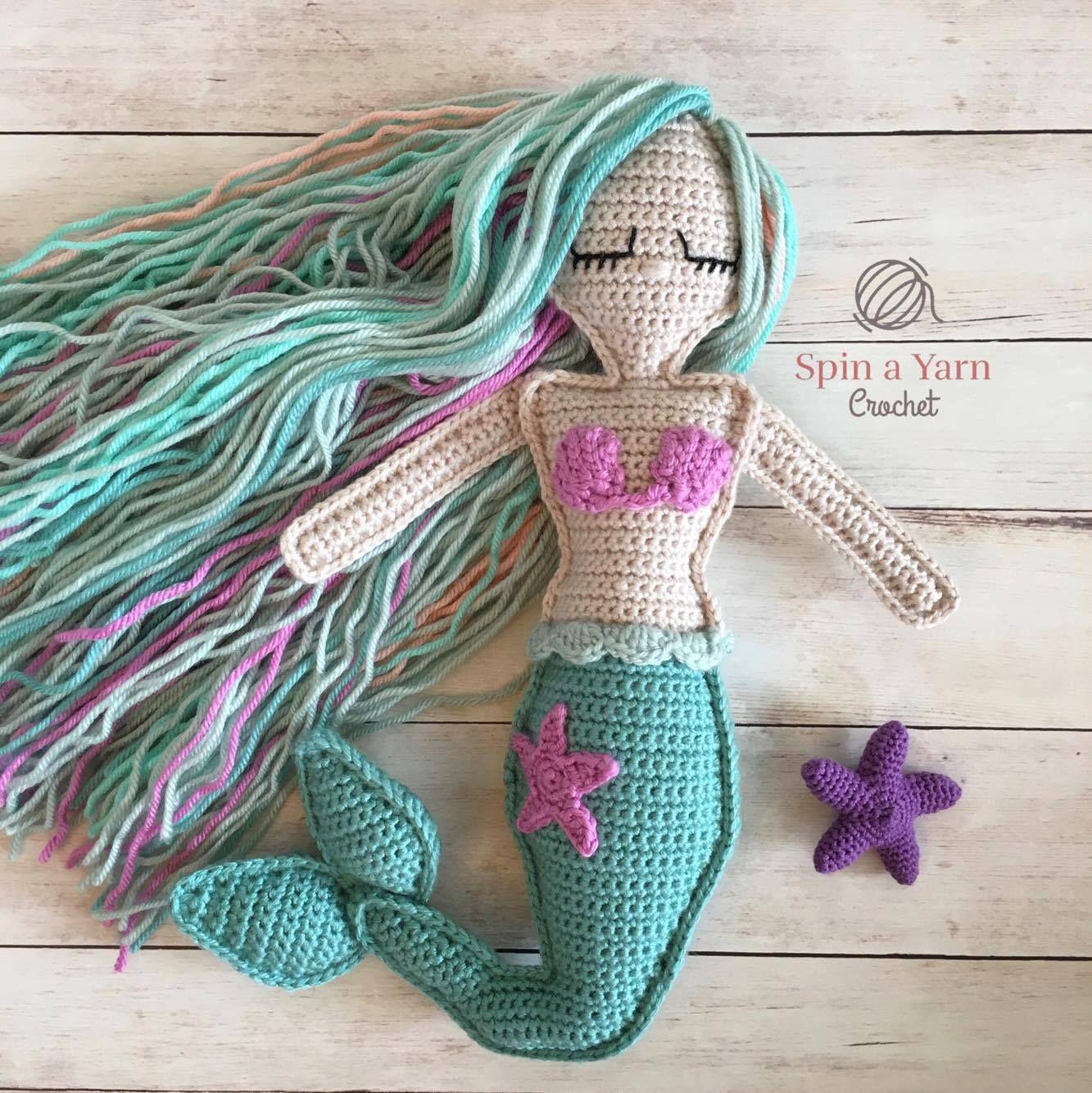 Ragdoll Mermaid Free Crochet Pattern   Mia   Pinterest   Patrones ...