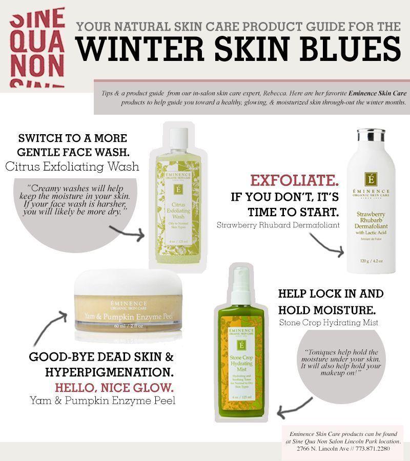 Winter Skin Woes Sine Qua Non Salon S Skincare Expert Rebecca Shares Her Favorite Natur Organic Skin Care Routine Eminence Organic Skin Care Skin Care Salon