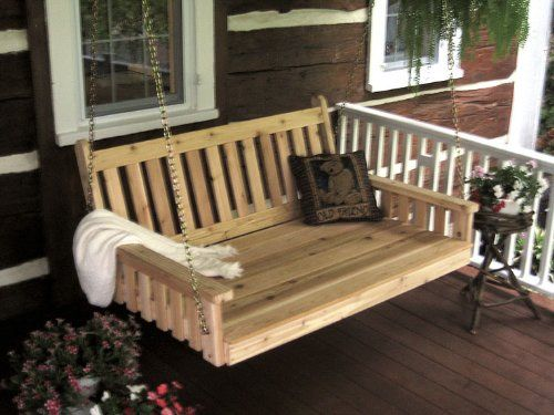 Outdoor 6 Traditional English Porch Swing Bed Oversized