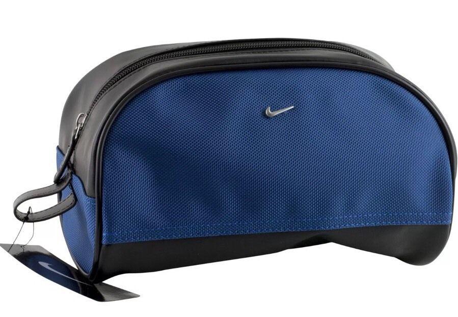 9efb29ed241a Nike Golf Mens Toiletry Shaving Travel Case Bag Kit Zippered Blue Black   NikeGolf  ToiletryBag