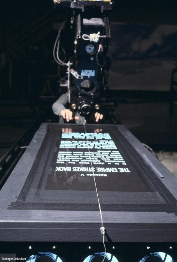 History In Pictures (@HistoryInPics) tweeted at 6:51 PM on Sat, May 31, 2014: How the opening crawl of Star Wars was filmed