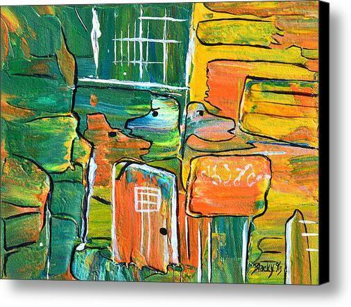 Who Let The Dogs Out Canvas Print   Canvas Art By Donna Blackhall ... e67ef0de1