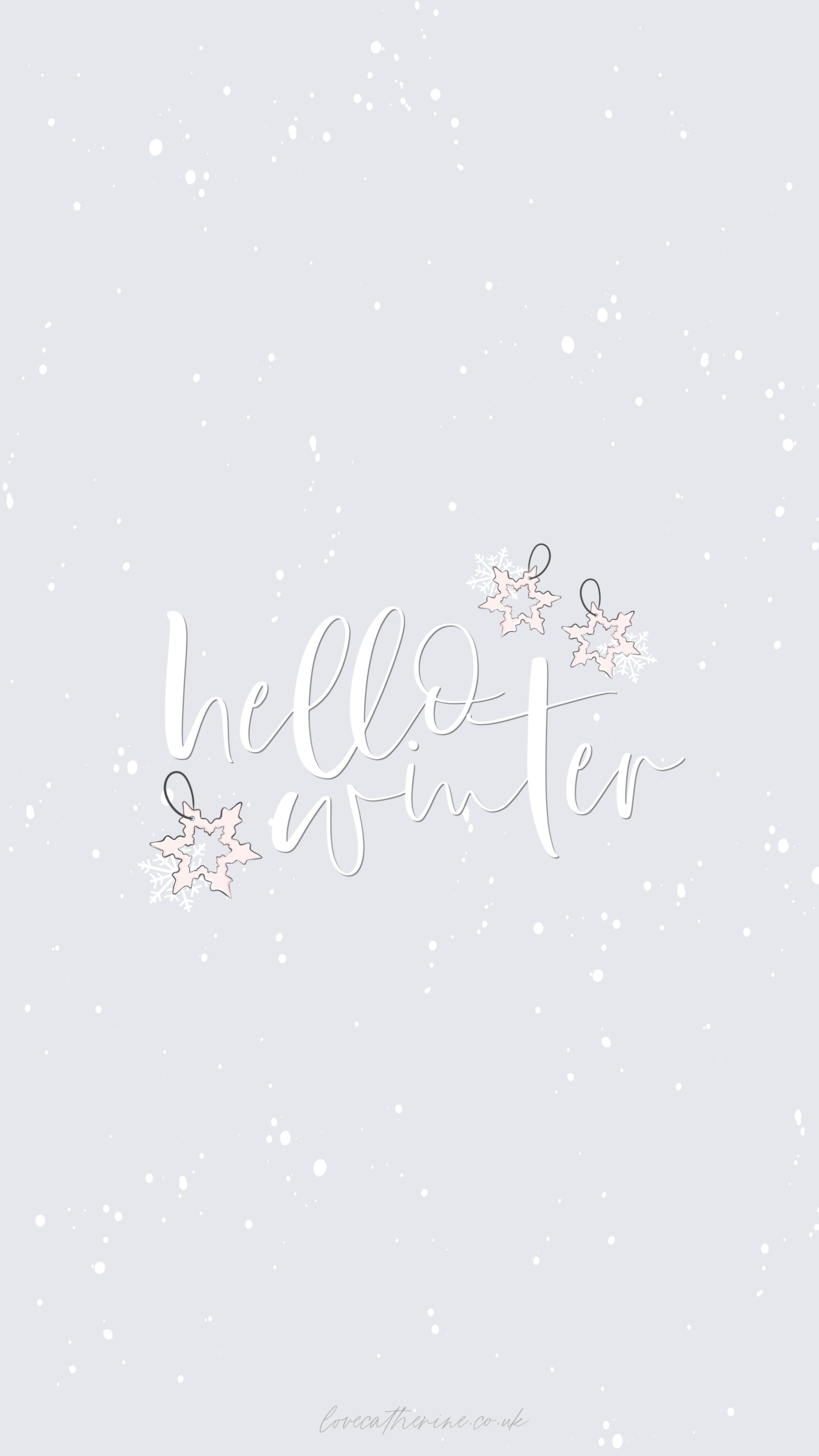 Free Cute & Girly Winter Phone Wallpapers - Love Catherine