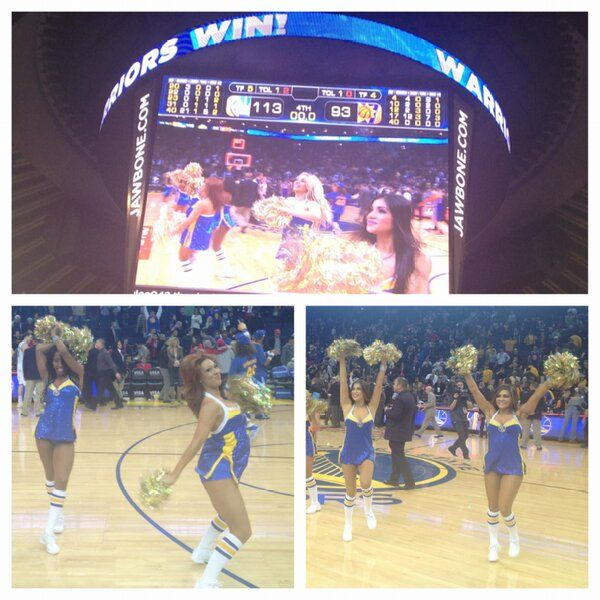 Hope #DubNation had us much fun on #WarriorsGround as we did...another @Warriors win!