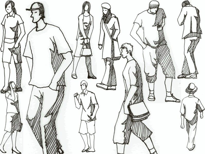 Architectural Drawing Human Figure silhouettes | sketch | pinterest | silhouettes, sketches and people