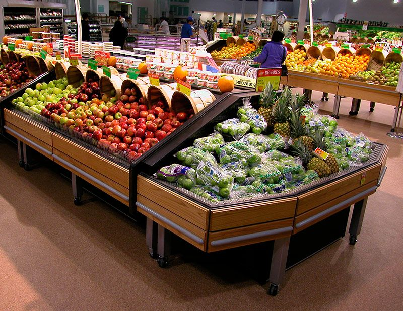 Used Display Tables ~ Flx ec refrigerated produce table endcap the is