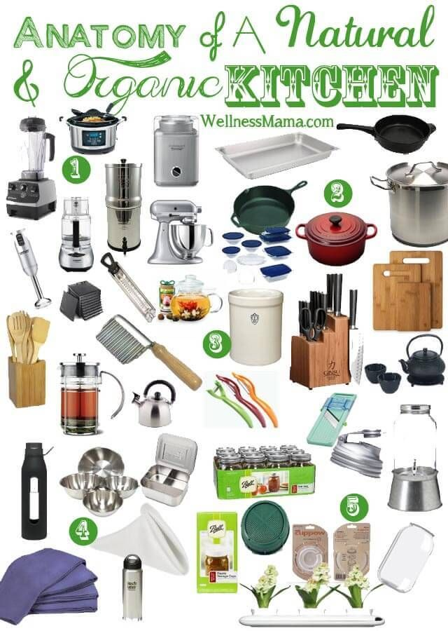 Kitchen Tools List essential items for a natural kitchen | wedding registry list