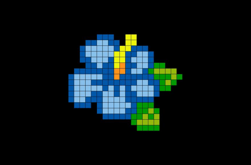 Blue Hibiscus Pixel Art Pixel Art Pattern Pixel Art Grid Tiny Cross Stitch