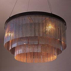 Chainmail Ochre chandelier.