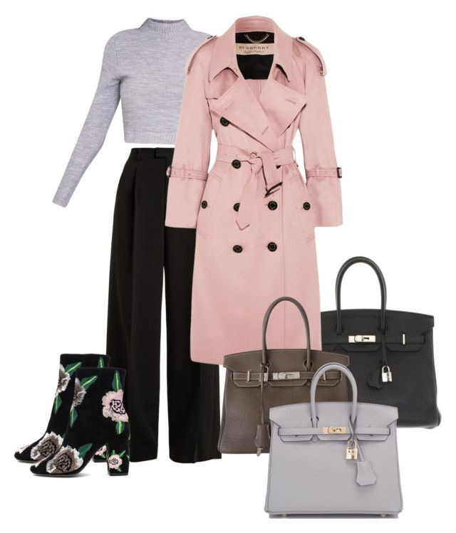 """""""Pure chic"""" by katerina-kucovka-zelenakova on Polyvore featuring RED Valentino, Hermès, Burberry and Rebecca Minkoff"""