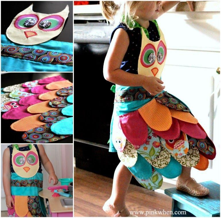 apron craft ideas how to make a owl apron diy owl diy ideas diy crafts 1058