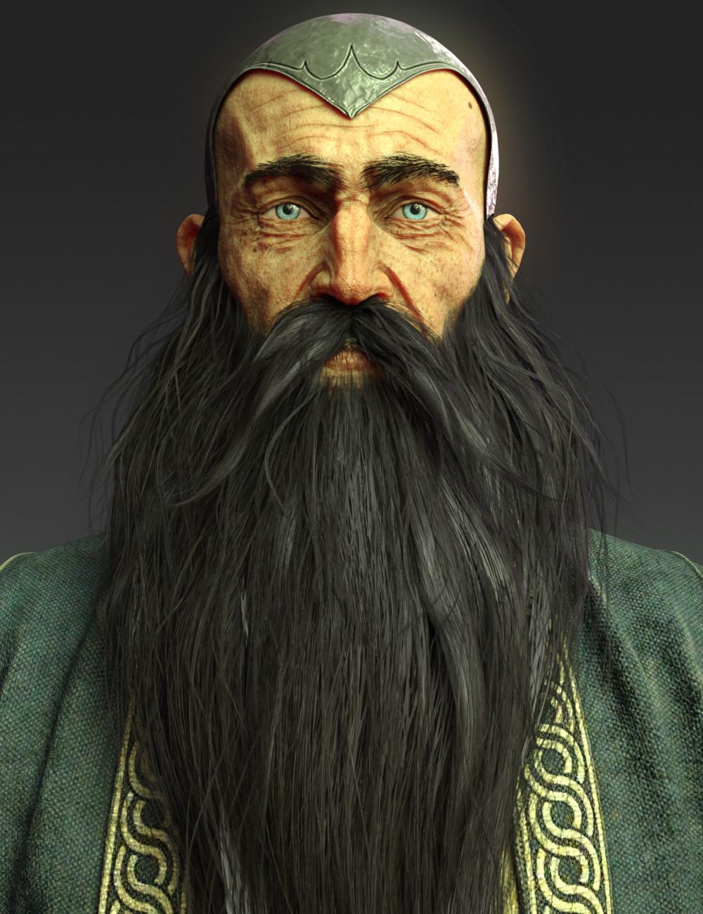 Artstation Wise Wizard 2018 Dan Alfaro Human Pictures Beard No Mustache Wizard