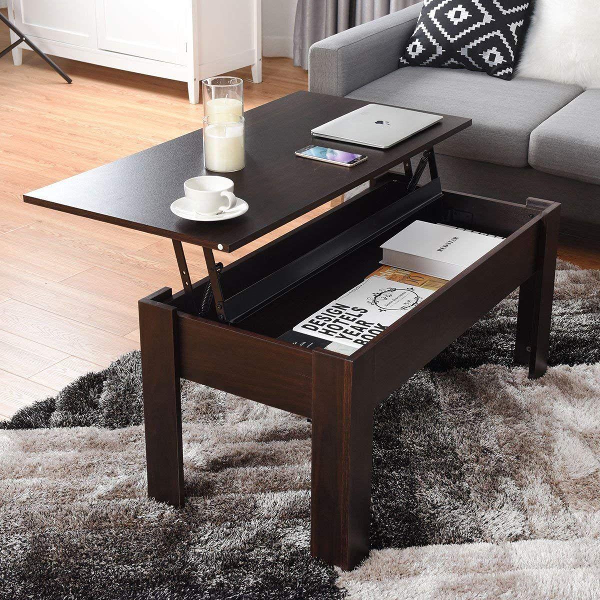 Amazon Com Tangkula Coffee Table Lift Top Wood Home Living Room Modern Lift Top Storage Coffee Table W Hidden Comp Coffee Table Home Furniture Cheap Furniture [ 1200 x 1200 Pixel ]