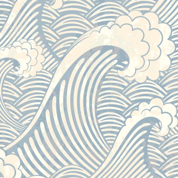 Japanese Wave Wallpaper Peel Stick Waves Wallpaper Scenic Wallpaper Removable Wallpaper