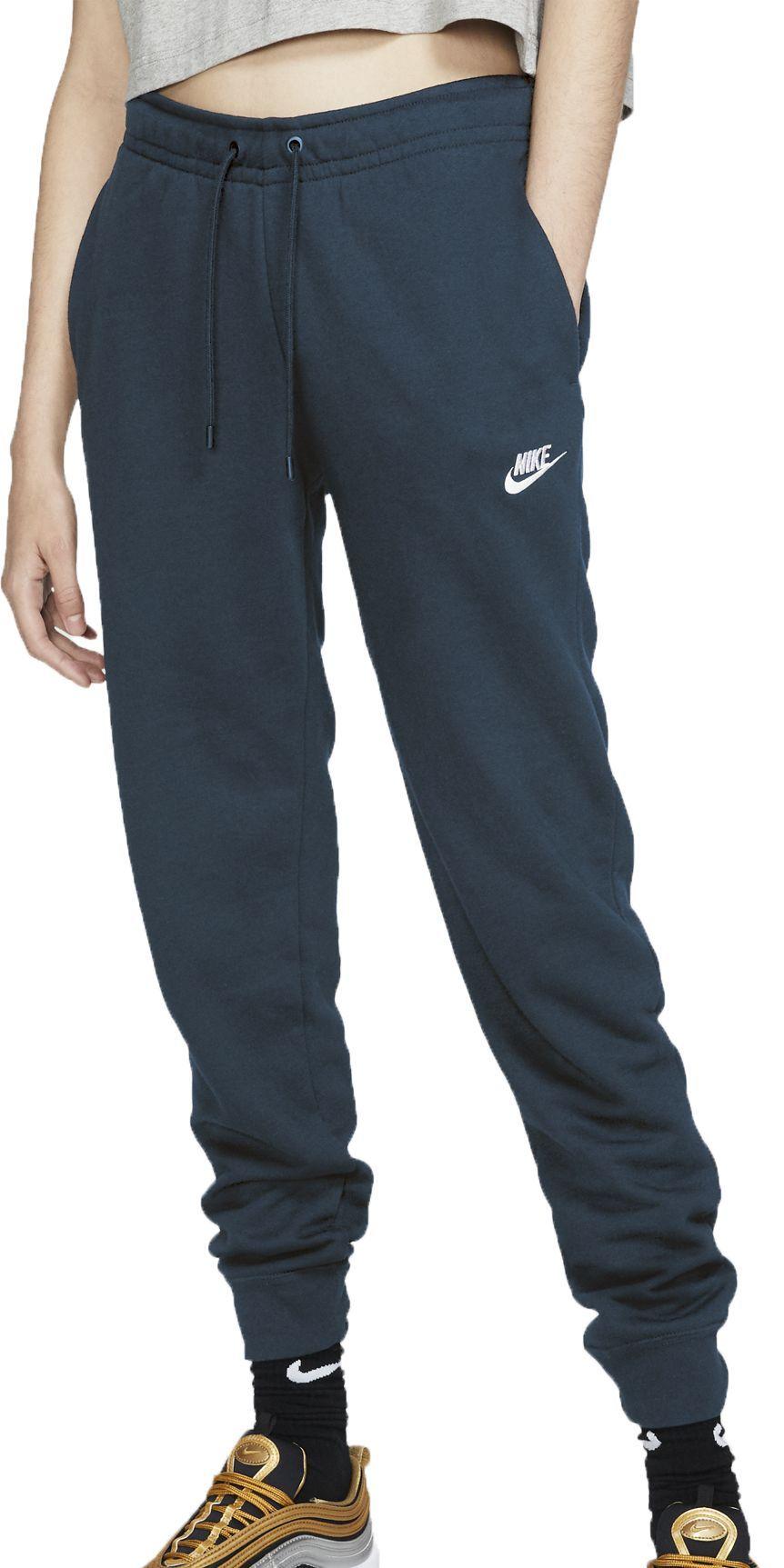 Nike Women S Sportswear Essential Fleece Jogger Pants Xl Blue In 2020 Sportswear Women Fleece Joggers Nike Women