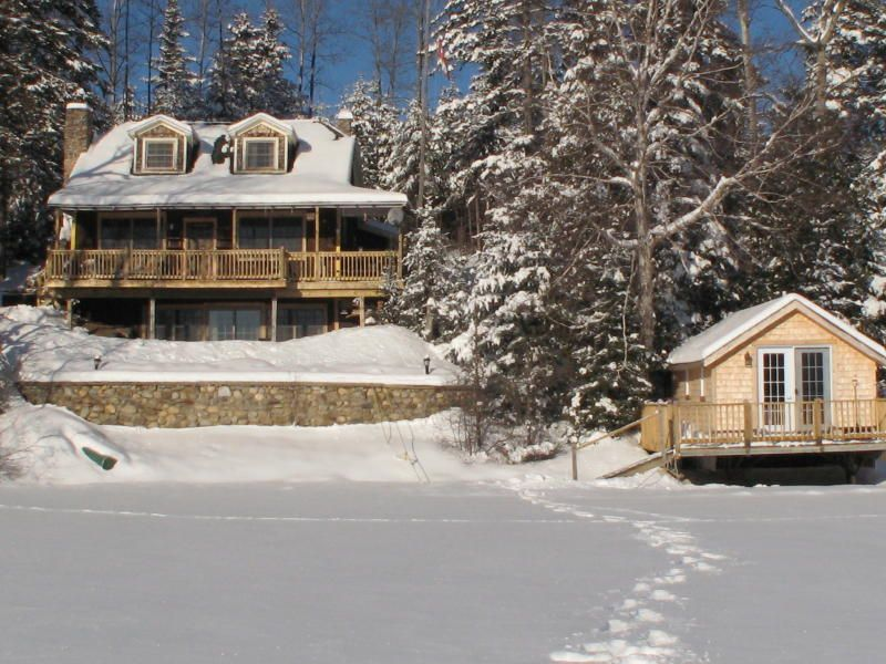 Honeymoon lakeside in the Canadian Northwoods at this winter fairy land any time of year.