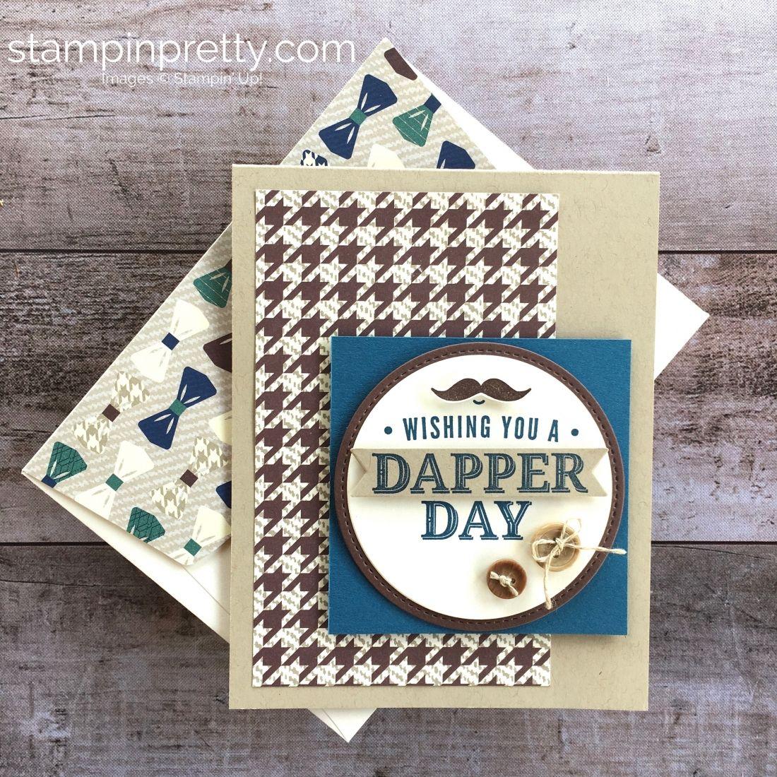 A Very Dapper Masculine Card Stampin Up Birthday Cards Masculine Cards Cards