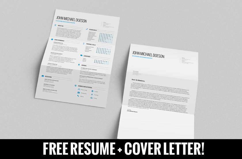 Free Resume  Cover Letter By Demorfoza  Cv  Resume Inspiration