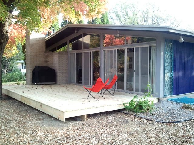 idea for patio off the bedroom - MID-CENTURIA : Art, Design and Decor from the Mid-Century and beyond