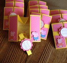 Peppa And George Box Invitation Box Invitations And Pig Birthday - Creative diy birthday invitations in a box
