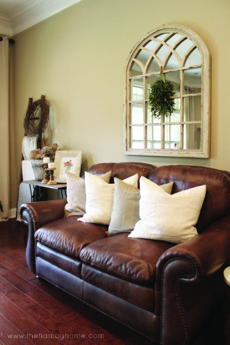 rustic traditional living room ideas | Traditional Rustic Living Room Tour | The Hamby Home ...