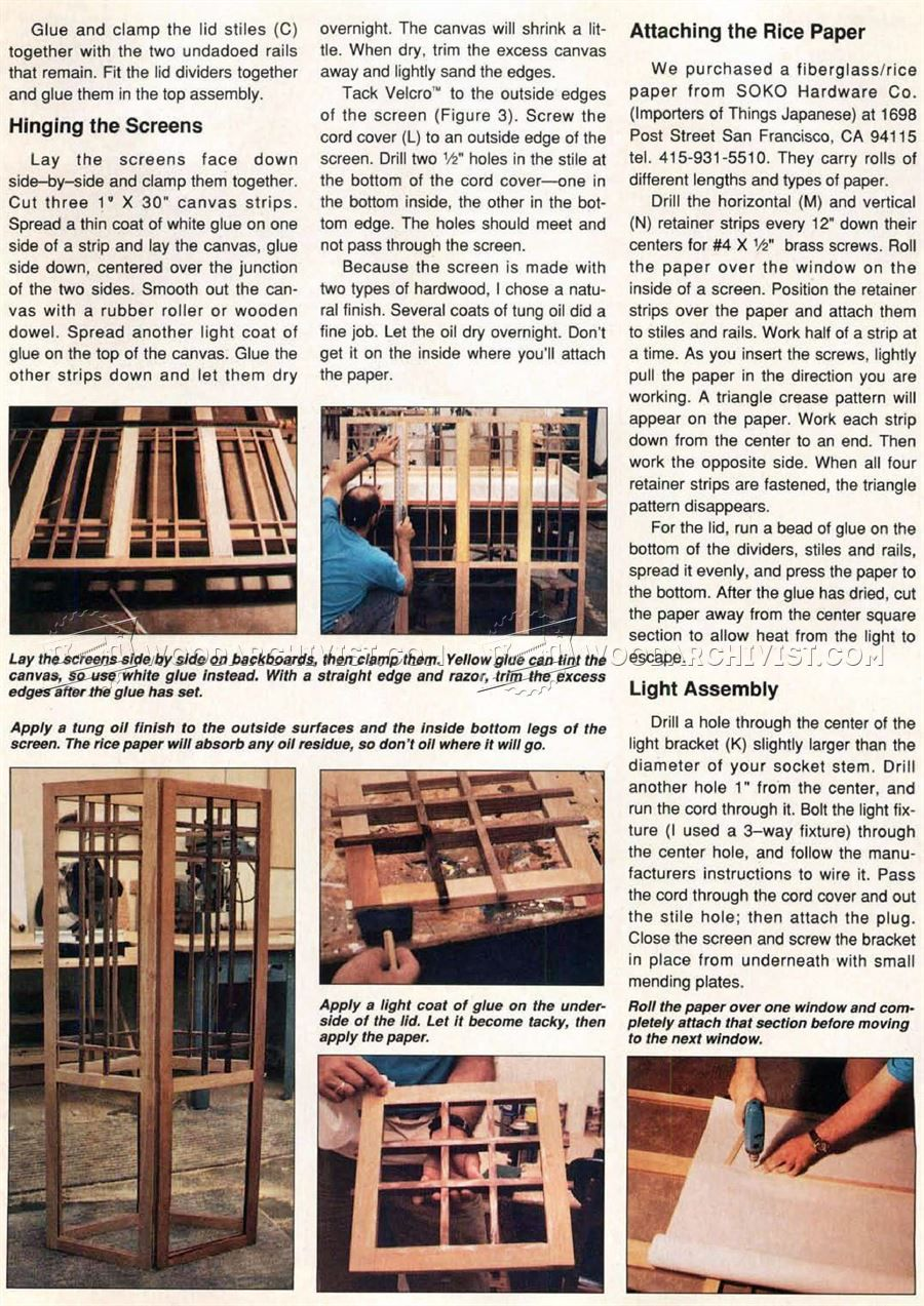 Shoji Screen Lamp Plans - Woodworking Plans | Woodworking ...