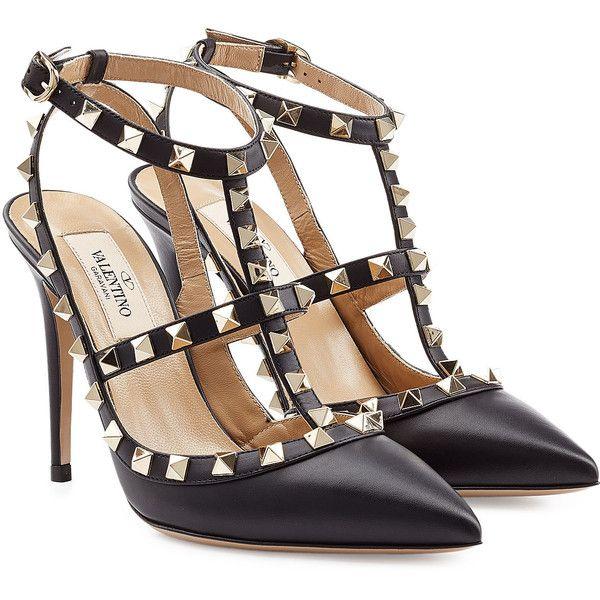 Valentino Leather Rockstud Stiletto