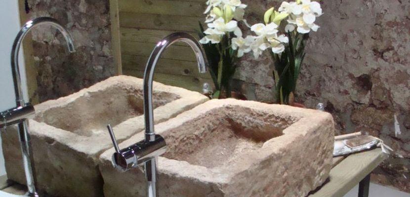 Lavabos rústicos en piedra o madera - lavabos rusticos
