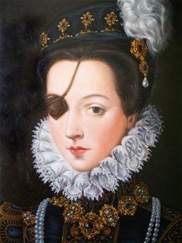 Ana, Princess of Eboli, herself was rather keen on the eyepatch and had a selection that matched her outfits