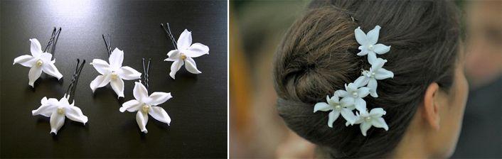 wax jasmin hair pins