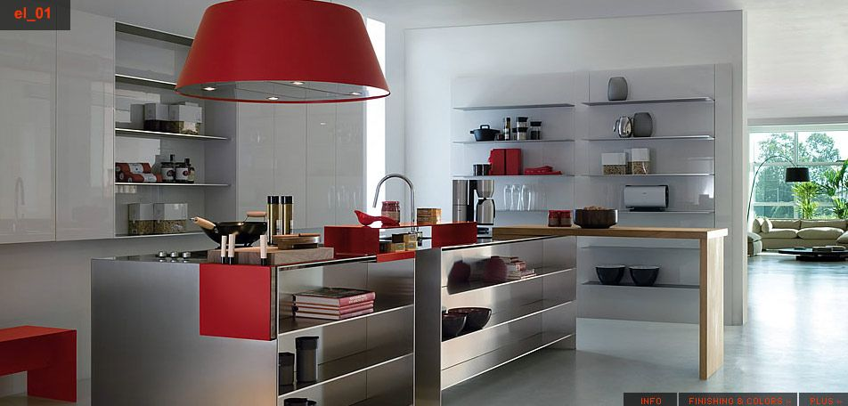 White Red Stainless Steel Kitchen Color Designs Pictures Of Stainless Steel  Kitchens