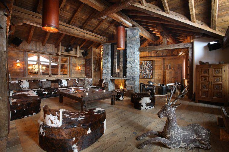 Décoration intérieur chalet montagne : 50 idées inspirantes