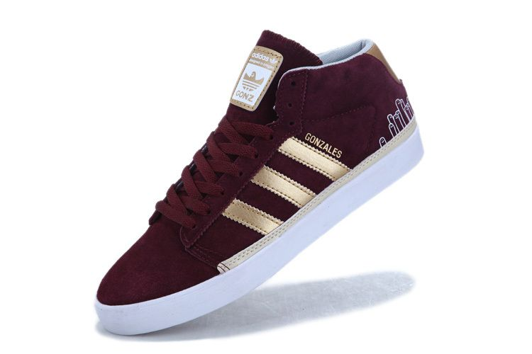 Cheap 183223 Adidas Skate Rayado Mid Men Grey Red Shoes