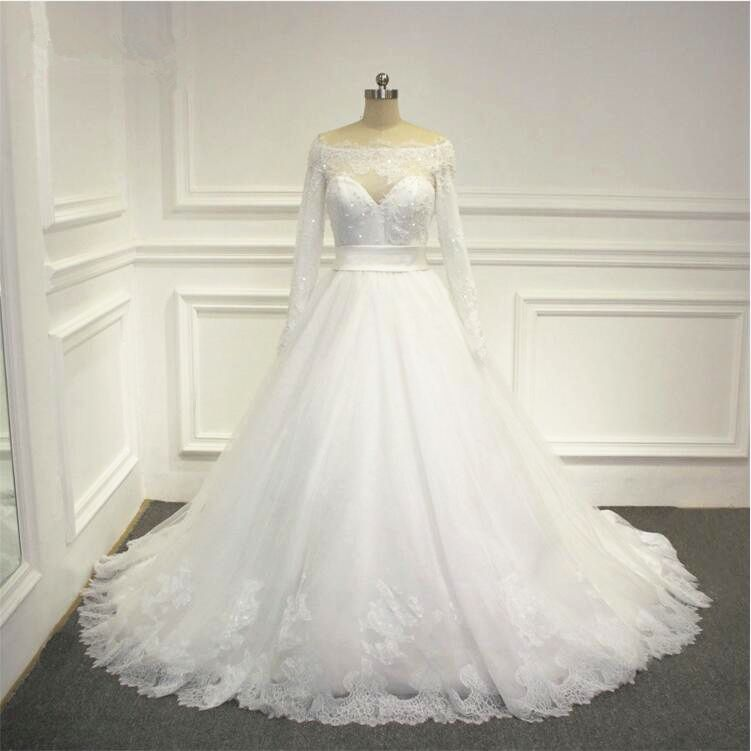 2016 New Arrival Long Sleeves Wedding Dress A