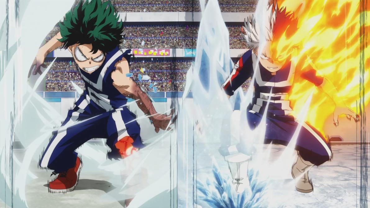 Resultado de imagen de Todoroki vs Deku