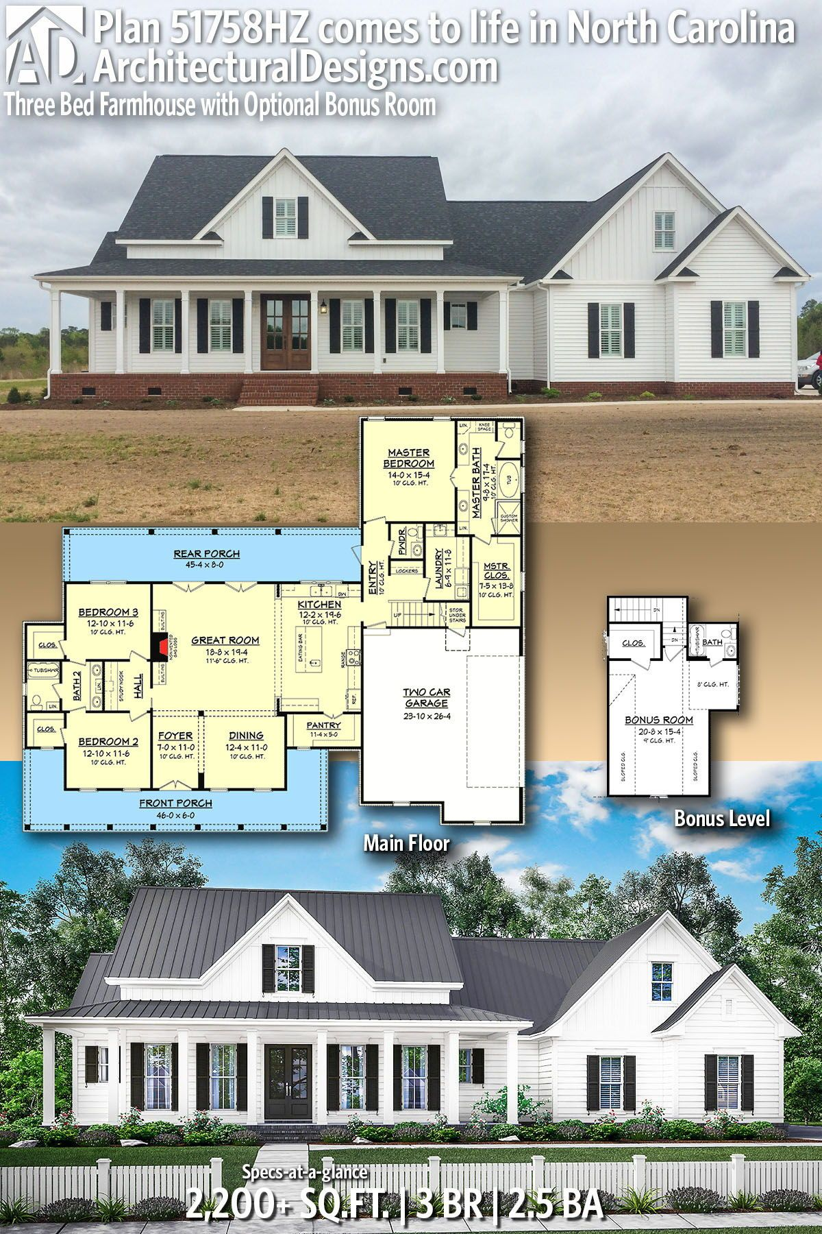 Architectural Designs House Plans archdesigns 3w 68