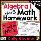 Algebra 1 Homework Algebra 1 Warm Ups Algebra 1 Review   S